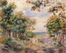 Small Canvas Print Landscape Art Painting Print Pierre-Auguste Renoir Tress 8x10