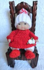 "Hand Knitted Clothes for 5"" Berenguer Doll (#126)"