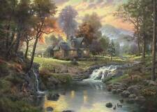 SCHMIDT JIGSAW PUZZLE MOUNTAIN RETREAT THOMAS KINKADE 1000 PCS #58445