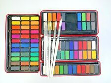 + / - 6 Brush Set Major Brushes Artist Watercolour Paint Tin 12,18,24,36 Blocks