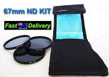 67mm Neutral Density Filter Kit ND2 ND4 ND8 Case for Olympus Lenses!