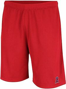 Los Angeles Angels MLB Mens Majestic Crossbar Synthetic Shorts Red Big Sizes
