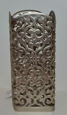 BATH BODY WORKS PEWTER OPEN PATTERN HEART DEEP CLEANSING HAND SOAP SLEEVE HOLDER