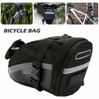 Black Waterproof Bike Cycling Saddle Bag Seat Pouch Bicycle Tail Rear Storage US