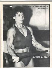 Women's Physique Publication Female Bodybuilding Leslie Barber/ Kozlow 2-83