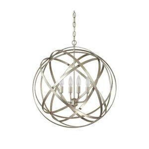Capital Lighting Axis 4 Light Pendant, Winter Gold - 4234WG