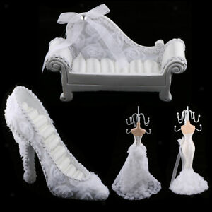 Mannequin Wedding Dress Earring Necklace Ring Jewellery Holder Stand Display