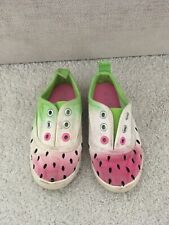 Next Girls Watermelon Shoes Size 6 Infant Baby Slip On Trainers Summer Hol Ombre