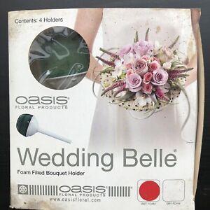 x4 Oasis Wedding Bell Foam Filled Bouquet Holders 7cm