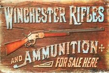 Rustic Winchester Rifles new tin metal sign MAN CAVE