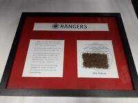 """Glasgow Rangers Framed Grass Clippings- 14"""" x 11"""" LIMITED STOCK MUST GO!"""