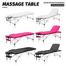 Portable Massage Table 2/3 Fold Aluminium 55/70/75/80CM Beauty Therapy SPA Bed