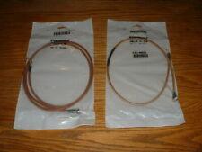 Two Pomona RF Coaxial Cable Assemblies, RG142B/U, Male SMA Connectors, 50 Ohm