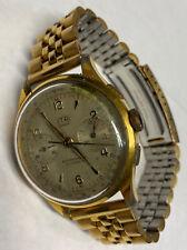 Men's Old Chronograph ITA GENEVE Swiss Mechanical 17 Jewel Wind Up Running