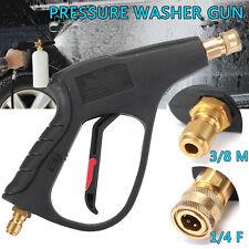 """High Pressure Washer Gun Water Spray Lance Trigger Car Wash 3/8"""" Quick Connector"""