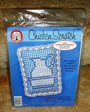 New Colortex Chicken Scratch Embroidery Kit Blue & White Gingham Pitcher 5946