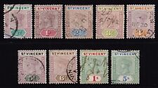 St. Vincent 1899 Queen Victoria set to 5s., used (SG#67/75)