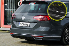 Difusor trasero parte central de ABS para VW Passat 3g b8 r-line con Abe carbon óptica