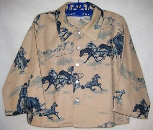 Western Print Jacket with side pockets for boys or girls Made in the U.S.A.