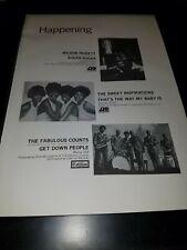 Wilson Pickett/The Sweet Inspirations Rare Original Promo Poster Ad Framed!