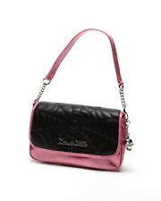 Lux de Ville Black Widow Small Tote Bag Matte Black Pink Bubbly Sparkle