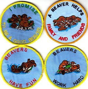 Boy Scout Badges BEAVERS x 4