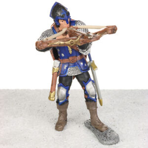 Schleich World of History Blue DRAGON KNIGHT With Crossbow Figure Figurine 2012