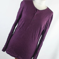H&M Womens Size XS Purple Plain Cotton Top