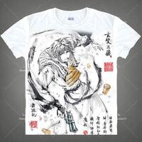 Anime saiyuki Reload Genjyo Sanzo T-shirt Short Sleeve Unisex Tops Ink Print