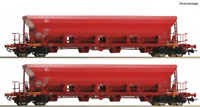 Roco 67087 HO Gauge DBAG Facs High Capacity Bogie Hopper Set (2) VI