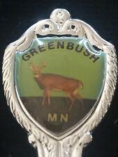 Vintage Greenbush Minnesota Deer Souvenir Spoon Silver Metal