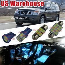 14-pc Aqua Blue LED Lights Interior Package Kit For Nissan Armada 2005 & up