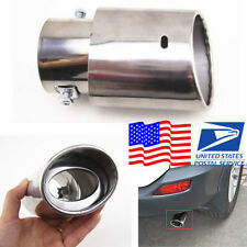 1x Aftermarket Replacement Car Accessories Auto Exhaust Pipe Tail Muffler Chrome