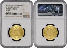 India Mohur NGC MS61 AH 1202 19 Bengal Presidency Shah Alam II KM-103.1 Gold