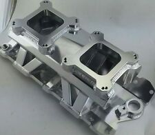 Small Block Ford Metal Fabricated Dual QUAD 4150 High Rise Manifold 350 400
