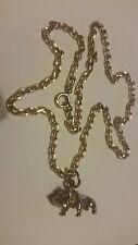 A Superb 9ct gold Bulldog & 9ct gold Diamond Cut Belcher full hallmarks. Heavy.