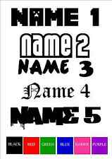 IRON ON TRANSFER - PERSONALISED NAME FONT COLOR LABEL LETTER HEIGHT 6cm