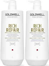 GOLDWELL DUALSENSES RICH REPAIR SHAMPOO 1 LITRE AND CONDITIONER 1 LITRE