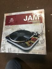 GPO Jam 3 Speed Turntable Record Player with Built-in Speakers Union Jack