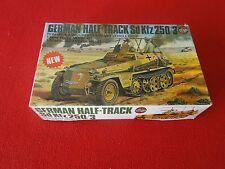 Vintage Rare Plastic Model Airfix German Half-Track SdKfz 250/3