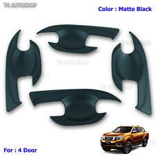 Black Bowl 4D Handle Insert Cover Fit Nissan Frontier Navara NP300 D23 2015 2016