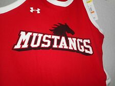 UNDER ARMOUR S Red/black Mustangs Athletic Sleeveless Tank Top Loose Heat Gear