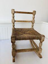Vintage dolls/childs rocking Chair Wood  Wicker