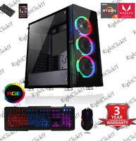 Gaming PC Computer AMD RYZEN 3200G 16GB 240SSD+1TB 4GB GTX 1650 6USB 3.1 Ports