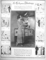 PUBLICITÉ DE PRESSE 1922 LA MODE POUR CE PRINTEMPS DESSINS ILLUSTRATIONS