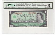 Canada $1 Dollar Banknote 1967 BC-45bA-i PMG GEM UNC 66 EPQ Replacement / Star