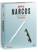 8 Blu-ray Box Cofanetto NARCOS - TRILOGIA stagioni 1-3 serie completa nuovo