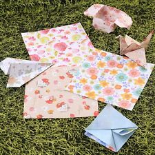60Pcs Floral Origami Folding Japanese Lucky Wish Paper 6 Colors Craft Chiyogami