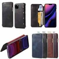 Leather Magnetic Book Flip Protective Genuine Case IPhone 12, Mini, Pro,Pro Max