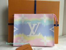 Auth New Louis Vuitton Giant Escale Rose Pink Toiletry Pouch TP 26 Bag 2020